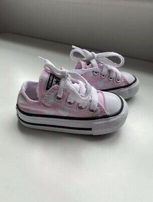£2.50 • Buy Toddlers Pink Love Heart Converse Trainers UK3 EUR19