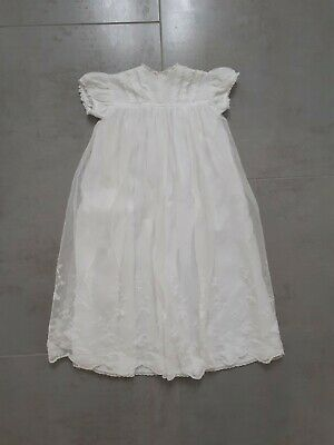 £18.99 • Buy VINTAGE WHITE LACE BABYS CHRISTENING GOWN Cuddly Wear Childrens Outfit