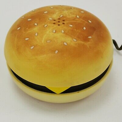 £6.99 • Buy Novelty Cheeseburger Push Button Home Telephone Retro Style Corded 173391