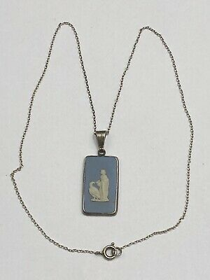 £20 • Buy Sterling Silver Blue Wedgwood Pendant & Necklace