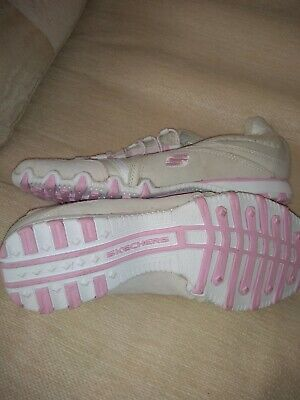 £14.99 • Buy Ladies SKETCHERS Trainers Walking Shoes Pink & White Brand New Never Worn Size 5