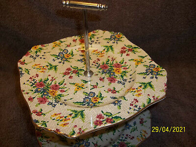 $ CDN13.22 • Buy Royal Winton Grimwades 2 Tier Candy Dish Plate Serving Tray Queen Anne Chintz