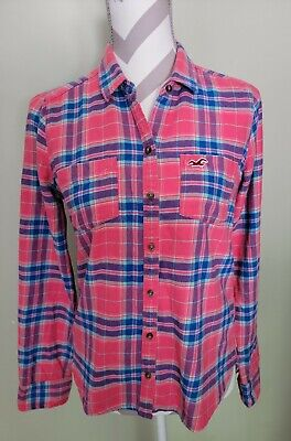 AU19.02 • Buy ❤Hollister Women's Plaid Button-Down Long Sleeve Shirt~Size Small~Cute For Fall!