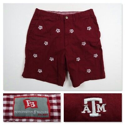 $29.99 • Buy Texas A&M Aggies Mens Size 34 Pennington Bailes Embroidered Stadium Chino Shorts
