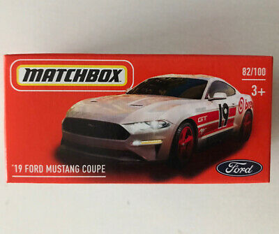 AU5.95 • Buy 2021 MATCHBOX #82 - '19 Ford Mustang Coupe (White - Mix 5) 1x Power Grab - New