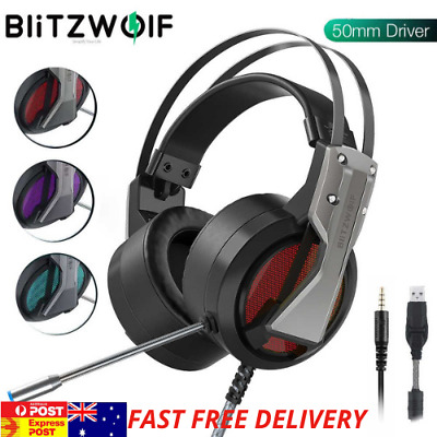AU29.99 • Buy BlitzWolf® BW-GH1 Gaming Headphone 7.1 Surround Sound  Game Headset With Mic