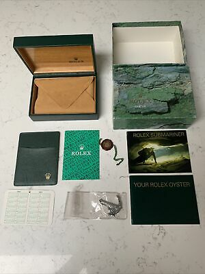 $ CDN337.57 • Buy Rolex Box 68.00.55 Submariner 16610 With Oyster Booklets Anchor & Wallet