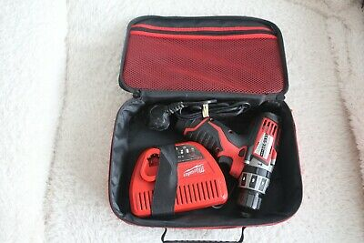 £45 • Buy Milwaukee C12PD 12v Hammer/combination Drill With Battery,charger & Case