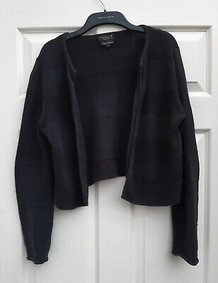£1.10 • Buy Next, Crop Cardigan, Black, Size 14 (open Fronted - No Buttons)