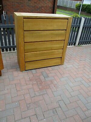 £40 • Buy Solid Oak Tall Boy / Chest Of Drawers