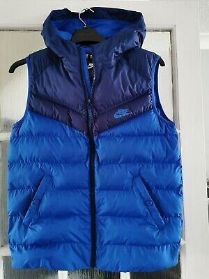 £39 • Buy Boys Nike Gilet / Body Warmer Size 158_170 Age 14/16 Blue In Excellent Condition