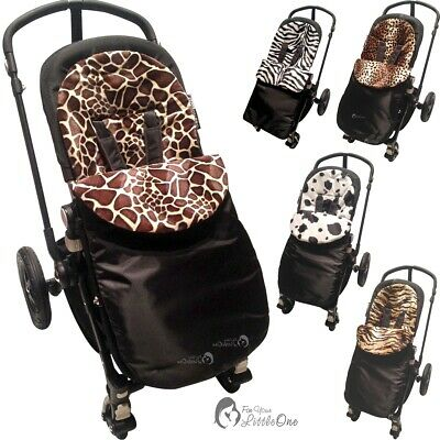 £11.99 • Buy Animal Print Padded Pushchair Footmuff / Cosy Toes Compatible With Kiddy