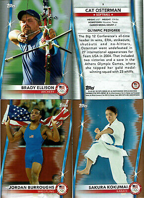 $ CDN4.99 • Buy 2020 2021 Topps U.S. Olympic & Paralympic Gold Silver Bronze Parallels USA PICK