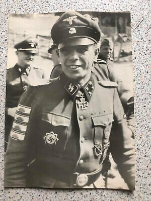 £15 • Buy German Wwii Photo: Elite Troops Officer - Knight's Cross Recipient,name On Rever