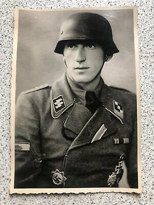 £7.40 • Buy German Wwii Photo: Elite Troops Officer - Knight's Cross Recipient,name On Rever