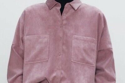 £3.20 • Buy Zara Oversized Corduroy Shirt Excellent Condition Size  L Dusty Pink