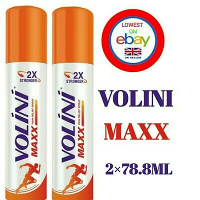 £22.99 • Buy Volini Maxx Pain Relief Spray Instant Relief Of Joint Pain Relief 2×78.8ML Each