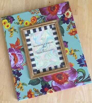 $75 • Buy MacKenzie-Childs Flower Market 5 X 7 Frame, Hand Painted Over Steel, Floral