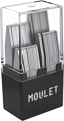 $17.96 • Buy 56 Metal Collar Stays For Men In A Divided Box - 4 Sizes By Moulet
