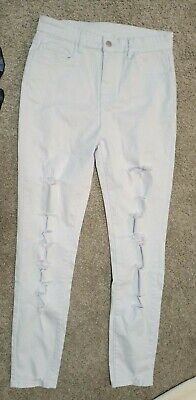 £9.99 • Buy Womens Shein Lilac Jeans Size Large (look Small) Reg7