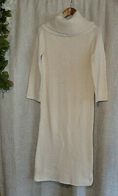 $29.90 • Buy Zara Long Cream Color Sweater Dress Nwt Size S Small