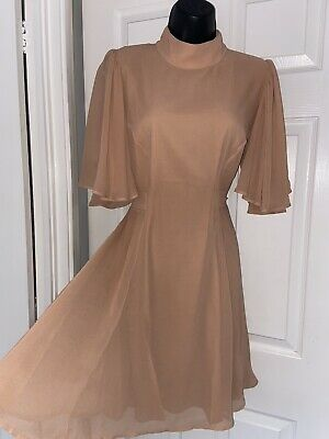 AU3.18 • Buy ASOS Deep Peach Party Cocktail Stunning Open Back Sexy Dress Size 16 New