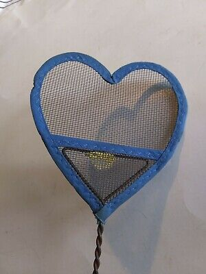$ CDN39.99 • Buy COOL Primitive Antique Heart Shaped Fly Swatter Tin Mesh & Turned Wood Handle