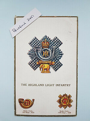 £3.75 • Buy WW1 THE HIGHLAND LIGHT INFANTRY Patriotic Postcard - Dated 1916