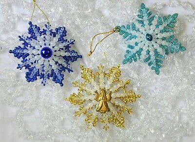 $ CDN12.58 • Buy Hand Crafted Vintage Look Christmas Ornaments