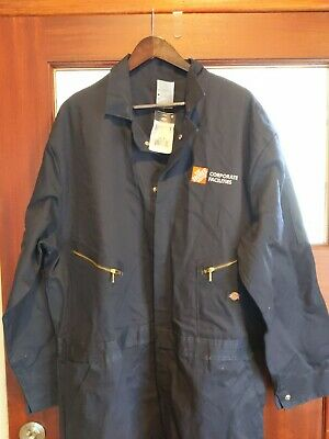 $34.95 • Buy Dickies Men's Industrial Work Coveralls/ Jumpsuit 2XL R Navy Blue The Home Depot