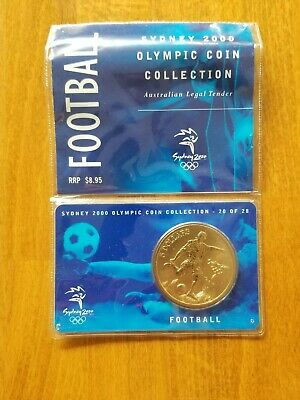 £15 • Buy Sydney 2000 Olympic Coin Collection: 20/28 - 'Football' AU$5 Coin, Uncirculated