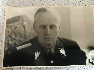 £10.80 • Buy Ww2 German Photo: Wehrmacht Officer- Name On The Back