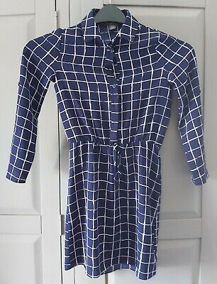 £0.99 • Buy Girls Blue Checked Long Sleeve Dress Age 8 - 9 Years Primark