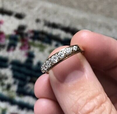 £65 • Buy 7 Stone Cubic Zirconia 9ct Gold Vintage Ring