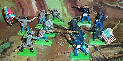 £39.75 • Buy Britains Deetail American Civil War (ACW) Union & Confederate Soldiers Sets Of 6