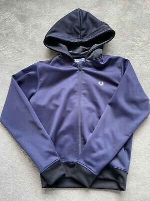 £0.01 • Buy Fred Perry Hoodie Blue Large Boys Used But In Good Condition
