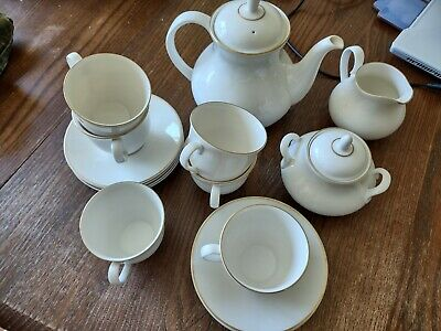 £25 • Buy Imagination Royal Doulton (for Boots) Tea Set - 6 Cups And Saucers, Teapot Etc