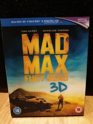 £2.50 • Buy Mad Max: Fury Road (3D + 2D Blu-ray, 2015, 2-disc Set) + Lenticular Slip Cover
