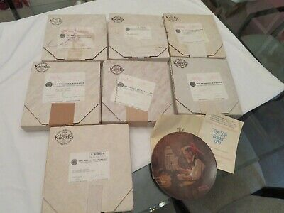 $ CDN56.64 • Buy Lot Of (8) KNOWLES Collector Plates NORMAN ROCKWELL  1980's