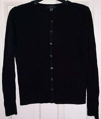 £0.99 • Buy Ladies Black Long Sleeved Button Up Front Cardigan Jumper Size 14 ATMOSPHERE