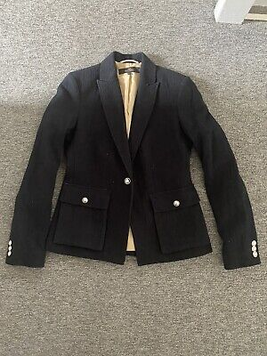 £10 • Buy Next Tailoring Blazer Size 10 Navy With White Speckles Silver Buttons Never Worn
