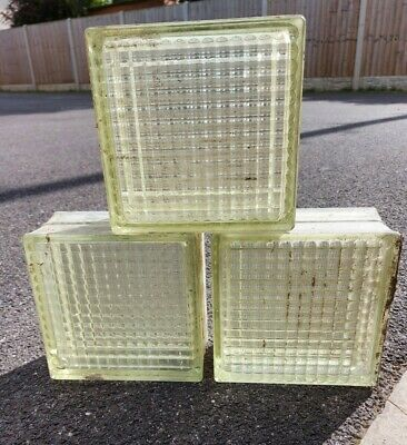 £80 • Buy Vintage Reclaimed Glass Brick Blocks From The 1950s, 39 In Total Job Lot.