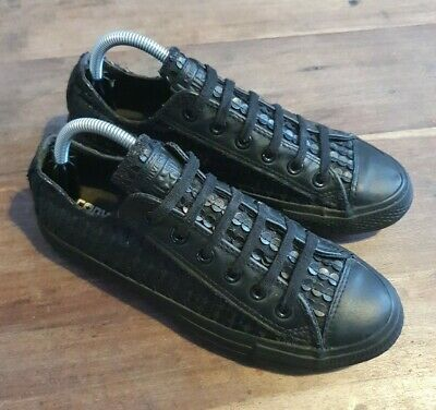 £22 • Buy Converse All Star Black Sequin Leather Trainers Size 7
