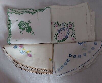 £5 • Buy Job Lot Vintage Linen Cotton Hand Embroidered .