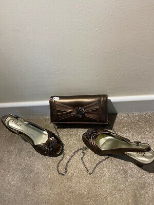 £5 • Buy Womens Lotus Bronze Shoes Uk Size 6 With Matching Bag
