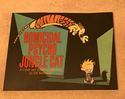 """£6.99 • Buy """"Homicidal Psycho Jungle Cat"""" Calvin And Hobbes (Tiger) By Bill Watterson"""