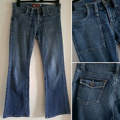 £19.99 • Buy Vintage Flare/Bootcut Size 10 Low Rise Hipster Denim Jeans 90s Y2K