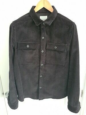 £15 • Buy The Idle Man Black Corduroy Over Shirt Size Large Nwot Tags