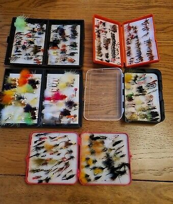 £32 • Buy 5 TROUT Fly Fishing Boxes Stuffed With Hamd Tied Trout Flies Lures