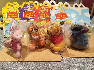 £10.99 • Buy Winnie The Pooh Soft Toys - McDonalds - 1998 - Full Set With Matching Boxes.